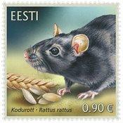 Estonie - Rat noir - Timbre neuf