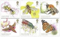 England - Insekter - Postfrisk sæt 6v