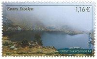 Fransk Andorra - Estany Esbalcat - Postfrisk frimærke