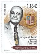 Andorre francais - Jacques Chirac - Timbre neuf