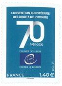 France - 70 ans de la Convention Européenne des Droits de l'Homme - Timbre neuf