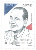 Frankrig - Jacques Chirac - Postfrisk frimærke