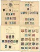 Belgien - Stemplet samling 1863-1927 på løse fortryksblade