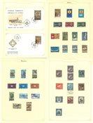 Chypre - Collection neuve avec ch. et obl. sur des  feuilles d'album