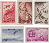 Monaco 1945 - YT PA8/PA12 - Neuf