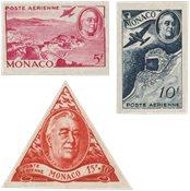Monaco 1946 - YT PA19/PA21 - Neuf