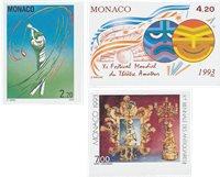 Monaco 1993 - YT 1869, 1873, 1874 - Postfrisk