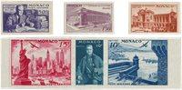 Monaco 1947 - YT PA22/PA27 - Neuf