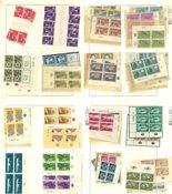 Israël - Collection neuve sans ch. sur pages Lindner y compris blocs de 4
