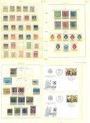 Liechtenstein - Postfrisk, ubrugt og stemplet samling