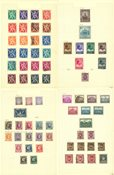 Belgien - Ubrugt og stemplet samling 1926-1950