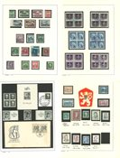 Tjekkoslovakiet - Postfrisk, ubrugt og stemplet samling