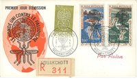 Mauritanie - Enveloppe 1er jour 1962 - Contre le paludisme