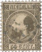 Holland 1867 - NVPH 12II - Stemplet