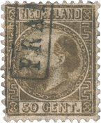 Pays-Bas - Roi Willem III 1867, type I, NVPH 12I, obl.