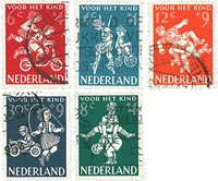 Holland 1958 - NVPH 715-19 - Stemplet