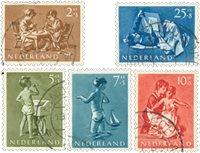 Holland 1954 - NVPH 649-653, stemplet