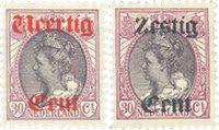 Holland 1919 - NVPH 102-103 - Ubrugt