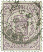 Holland 1869-1871 - NVPH 18 - Stemplet