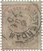 Holland 1869-1871 - NVPH 16 - Stemplet