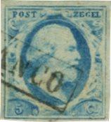 Holland 1852 - NVPH 1 - Stemplet