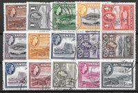 Colonie Britanniche 1953 - Mic 101-115 - Timbrato