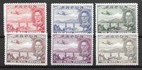 Colonie Britanniche 1936 - Mic. 112-117 - Nuovo linguellato