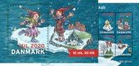 Danmark - Julemærkehæfte - Postfrisk hæfte med 10 mærker