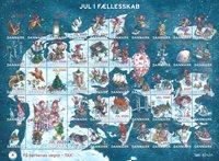 Danmark - Julemærker 2020 - Postfrisk gummieret ark