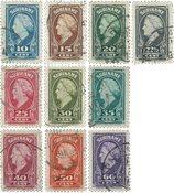 Surinam 1945 - NVPH 229/38 - oblitéré