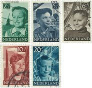 Holland 1951 - NVPH 573-577 - Stemplet