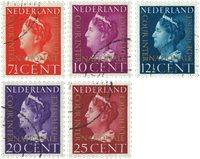 Holland 1947 - NVPH D20-D24 - Stemplet