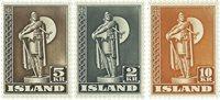 Islande - 1947 timbres dentelés 11½