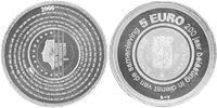 Olanda - moneta 5 euro d'argento 200 Anni servizi fiscali - 2006