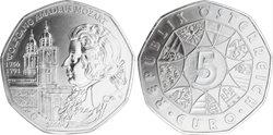 Itävalta - 5:n euron kolikko - Mozart - 2006