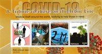 Tuvalu - COVID 19 - Hommage aux premières lignes - Série neuve 4v