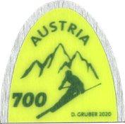 Østrig - Skispids - Postfrisk frimærke/miniark
