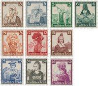 Tyske Rige - 1935 - Michel 588/597, Postfrisk