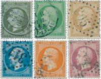 Frankrig 1862 - YT 19/24 - Stemplet