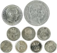 Denmark - Duplicate lot with silver coins