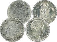 Danmark - 2 forskellige 2 kr. sølvmønter