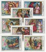 Monaco 1987-1990 - YT 1594/1595, 1649/1650, 1691/1692, 1720/1721 - Postfrisk