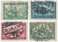 Tyske Rige 1924 - Michel 364-367 / AFA 364-367 - Stemplet