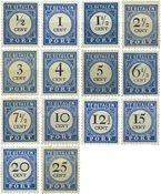 Nederland - Port Cijfer en waarde zwart 1894 (nr. P13-P26, ongebruikt)