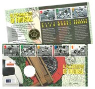 Gran Bretagna 1996 - Camp. Europei calcio - busta filatelico-numismatica