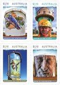 Australien - Vandtårne kunst - Postfrisk sæt 4v