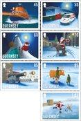 Guernsey - Julemanden besøger Guernsey - Postfrisk sæt 7v
