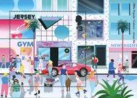 Jersey - La culture populaire des années 1980 - Bloc-feuillet neuf 1v