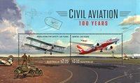 Australië - Civil Aviation - Postfris souvenirvelletje
