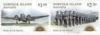 Norfolk Island - Fred i Stillehavet - Postfrisk sæt 2v